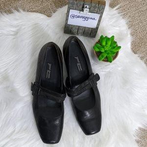 Paul Green Mary Jane's Black Leather Sz 7.5 (9.5)